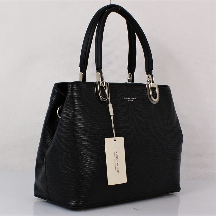Biało czarna torebka damska modny kuferek